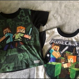 Minecraft Sleeping/ PJ's Shirts